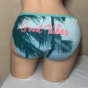 L Victoria's Secret Bikini Panty Good Vibes Palm